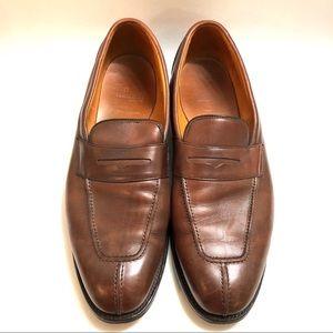 Allen Edmonds Glasgow brown Loafers Size 12D